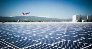 oro uostas, saules energija, saules baterija, saules moduliai, saules elektrine