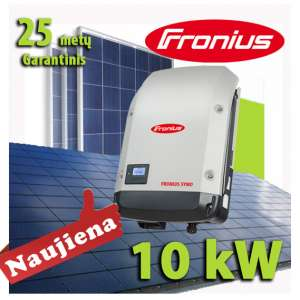 i stoga imontuota 10 fronius -kW-saulės-elektrinė-1