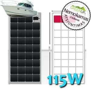 Saulės baterijos laivui