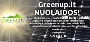 saules baterija nuolaidos