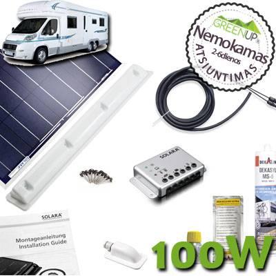 Saulės baterijos turistiniams nameliams